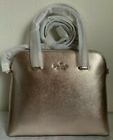 NWT Kate Spade Maise Medium Dome Leather Satchel Bag Metallic Blush Original Pac