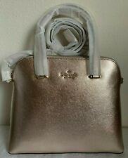 NWT Kate Spade Maise Medium Dome Leather Satchel Bag Metallic Blush Original Pac