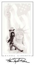 """Kim Taylor Reece """"Aloha Liberty"""" Hawaiian Hula Kahiko Poster - New"""