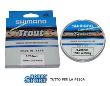 FILO SHIMANO TROUT COMPETITION 0,205 mm  X MULINELLO MT 150 new 2016