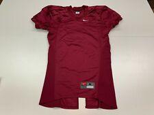 Nike Maroon Blank Pro-Cut Football Jersey - Medium