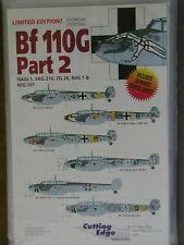1/48 Cutting Edge Bf 110G Pt. 2: *NOSE ART Messerschmitt Me 110 Decal w/Data OOP