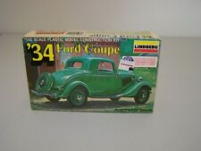 LINDBERG '34 FORD COUPE 1/32 SCALE MODEL KIT 1979 No. 2119