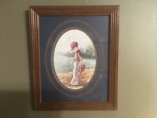 Home Interiors Matted Picture Of Little Baseball Player