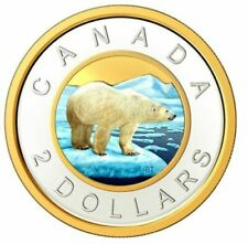 2020 CANADA NEW COLORED $2 DOLLARS FROM DELUXE EDITION PROF SETS .9999 SILVER