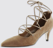 Marks and Spencer Faux Suede Slim Heel Shoes for Women