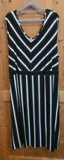 Ausgefallenes Streifenkleid, Popken, 58/60, schwarz-grau-weiß!!
