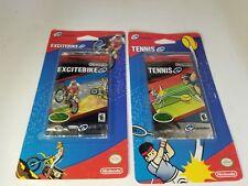 E Reader TENNIS & EXCITEBIKE 10 Scan Cards for Nintendo Game Boy Advance N33
