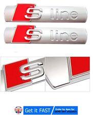 2x For Audi S line 3D Metal Chrome Gloss Emblem Badge A3 A4 S3 S4 A5 A6 TT RS3