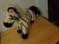 Aurora Realistic Lifelike Wild Zebra Plush Doll Figure Beanbag Bean Bag Toy