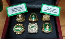 Green Bay Packers - 6 Championship Ring Set.. Favre Rodgers.. With Wooden Box