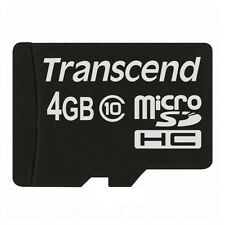 kQ Transcend microSDHC 4GB Class 10 Speicherkarte microSD HC 4 GB Highspeed