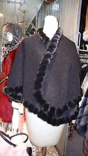 STUNNING Alpaca Mink Fur Shoulder Wrap Cape Superior Quality Soft Bouclé Texture
