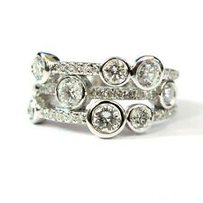 Last piece ..!! 2.00 ct F / VVS Round Diamond Waterfall Ring in 18k white gold