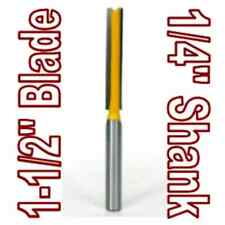 "1 pc 1/4"" SH 1-1/2"" Extra Long Straight Router Bit sct-888"