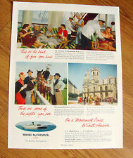1955  Ad  Moore-McCormack Cruise SS Argentina Brazil