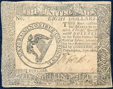 CONTINENTAL CURRENCY SEPT 26,1778 $8.00, XF BP1858
