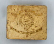 """Old Tin State Express Cigarettes Duty Free H M Ships Only apr 3.5"""" x 3"""" Free P&P"""