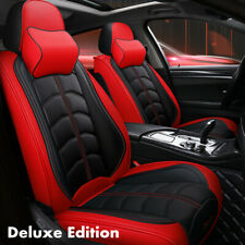 Luxury PU Leather Car Seat Covers Front & Rear Full Set Interior Accessories