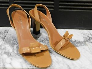 Emporio Armani made in Italy slingback leather sandal euro 38