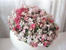 Vintage Floral Hat Women's Millinery Flowers Matte Fashions