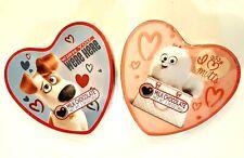 Secret Life of Pets Empty Valentine Candy Tins Lot of 2 Hearts Max Gidget