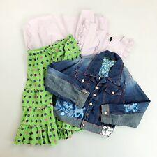 BRAND NAME Girls Clothing Lot of 3 SZ 7-8 Dress Skirt Coat Boden Oilily Benetton