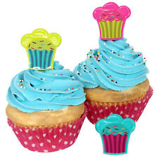 24 Cupcake Rings Birthday Favors Prizes Bag Fillers Cake Topper Party Supplies