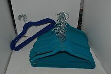 JM Joy Mangano Lot of 89 Huggable Turquoise and Blue Suit / Pant Hangers