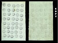 RUMANIA 1858 Bull Head First Issue composite sheet of 40 , sheet numbered 2,COPY