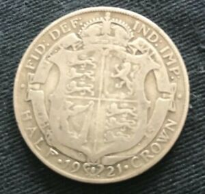 1921  Silver Half Crown - King George V