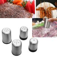 Salt Pepper Jar Stainless Steel Cruet Shaker Sugar Spice Condiment Container UK
