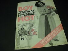 DENIECE WILLIAMS Boy Is She Hot 1984 PROMO POSTER AD mint condition