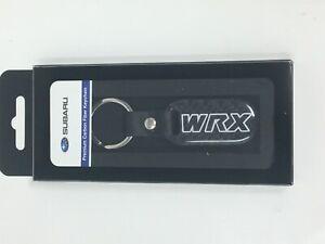 Subaru WRX Logo Carbon Fiber Keychain fob Impreza Legacy Outback STi OEM Genuine