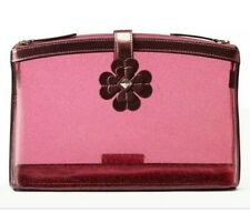 Kate Spade Sabine Pink Glitter Double Compartment Cosmetic Bag