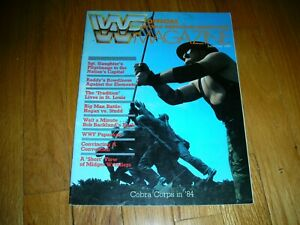 1984 WWF WRESTLING MAGAZINE RARE HULK SGT SLAUGHTER CYNDI LAUPER