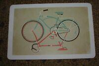 """DKNG Red Blue Bike Art Postcard Handbill 4 X 6"""" like silkscreen poster print"""