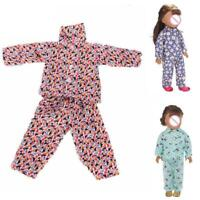 Cute Pajamas Nightgown Clothes For 18 inch Girl Doll R2L3
