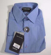 Vanhood Premium Cotton blue Color Men's Dress Shirt. Size 15-1/2 - 16 Euro sz.40