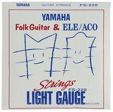 YAMAHA guitar strings light gauge folk guitar for the set string FS220 Japan