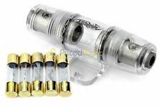 High Quality In-line 4 or 8 Gauge AGU Fuse Holder + 5 Pack 50 AMP AGU Fuses