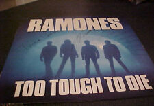 Signed Ramones LP Too Tough To Die Joey Johnny Richie Ramone Punk Autographed