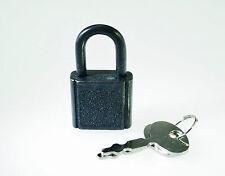 (Lot of 50) Mini Padlock BLACK COLOR Small Tiny Box Lock with Keys