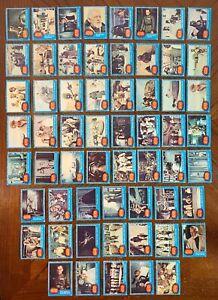 1977 TOPPS STAR WARS BLUE SERIES 1 PARTIAL CARD SET 59/66 PR-VG-EX READ