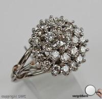 Damen Finger Ring  in 18Kt.  750 er aus Gold mit Brillant Brillanten Diamant