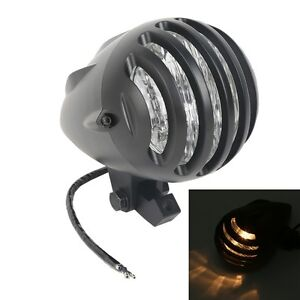 Aluminum Invader Torpedo Head Light Fit For Harley Choppers Softail Sportsters