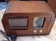 RARE RCA 9TX-33 SUPERHETERODYNE WOOD VINTAGE 1930's WORKS! Radio Collectible!