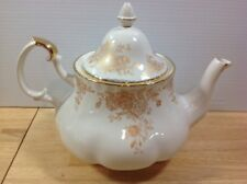 Royal Albert Old Country Roses Gold Tea Pot Teapot 6 Cup Fluted Hard To Find!