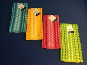 Kitchen towel, 16 inch x 26 inch , available in blue, red, green, or yellow