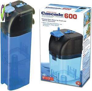 Penn-Plax Cascade 600 Submersible Aquarium Filter Cleans Up To 50 Gallon Fish Ta